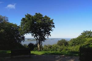 Ausblick vom Bismarck-Stein auf die Elbe