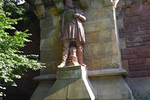Ditmar Koel-Figur an der Kersten-Miles-Brücke