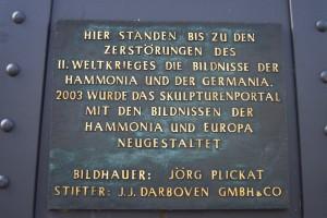 Gedenktafel an der Brooksbrücke