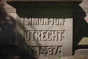 Sockel des Denkmal für Simon von Utrecht