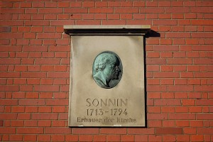 Gedenktafel zu Ehren von Ernst Georg Sonnin