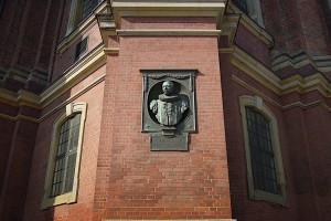 Johann Heinrich Burchard in der Wand des Michels