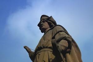 Christoph Kolumbus-Denkmal von schräg unten