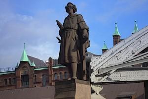 Christoph Kolumbus auf der Kornhausbrücke