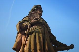 Christoph Kolumbus-Statue im Detail