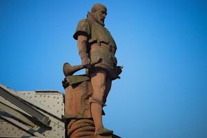 Überlebensgroße Staue des Vasco da Gama