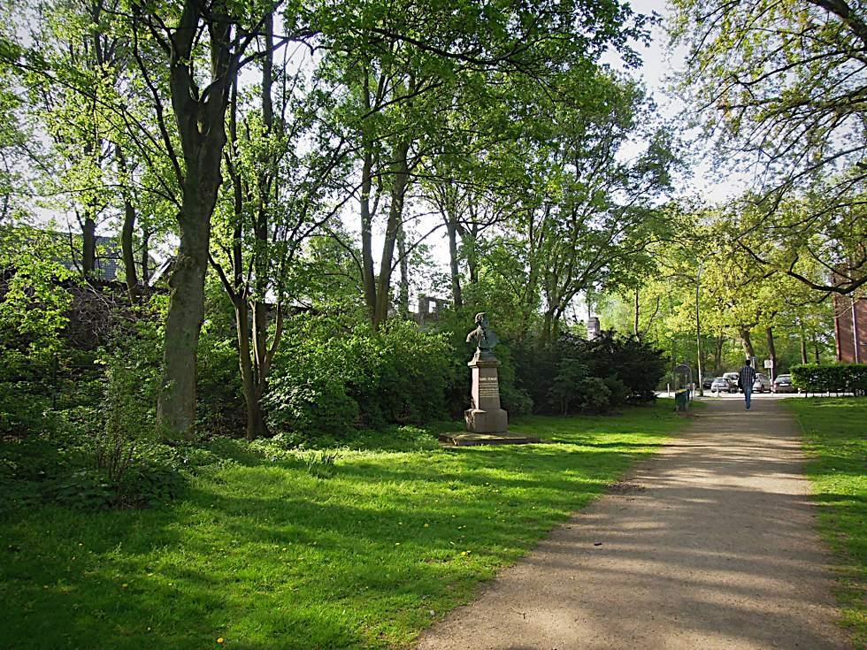 Panoramaansicht des Seelemannparks in Eppendorf