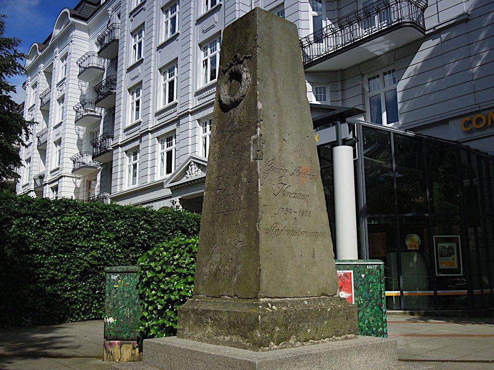 Denkmal für den Andreasbrunnen in Eppendorf
