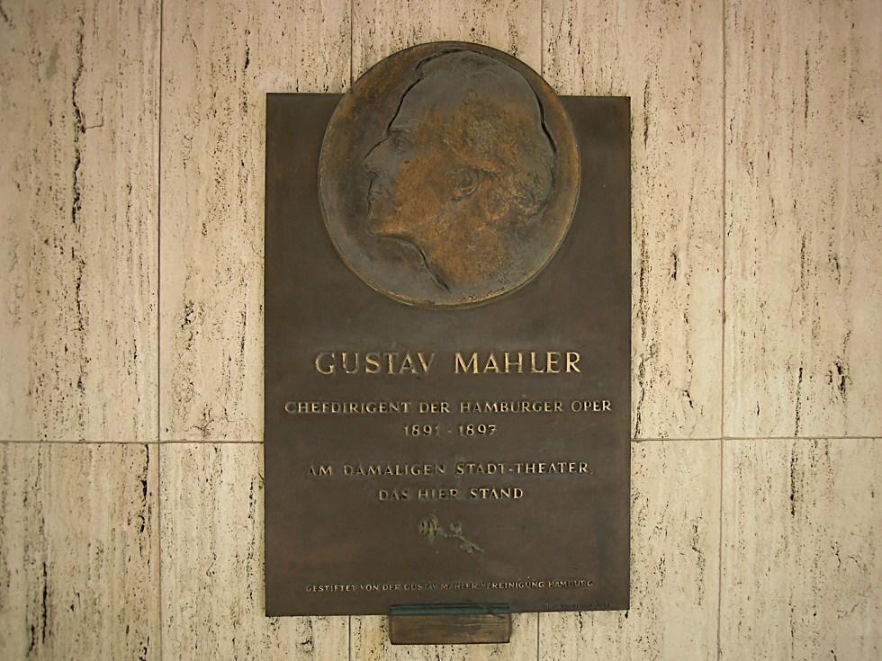 Gedenktafel für Gustav Mahler