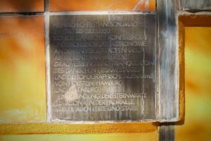 Gedenktafel für Heinrich Christian Schumacher