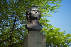 Friedrich Schiller-Büste im Detail