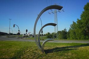 Sturmflutopfer-Denkmal in Wilhelmsburg von der Seite