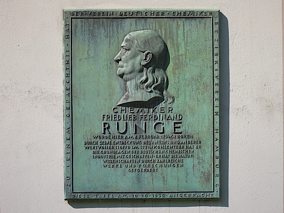 Gedenktafel für den Chemiker Friedlieb Ferdinand Runge