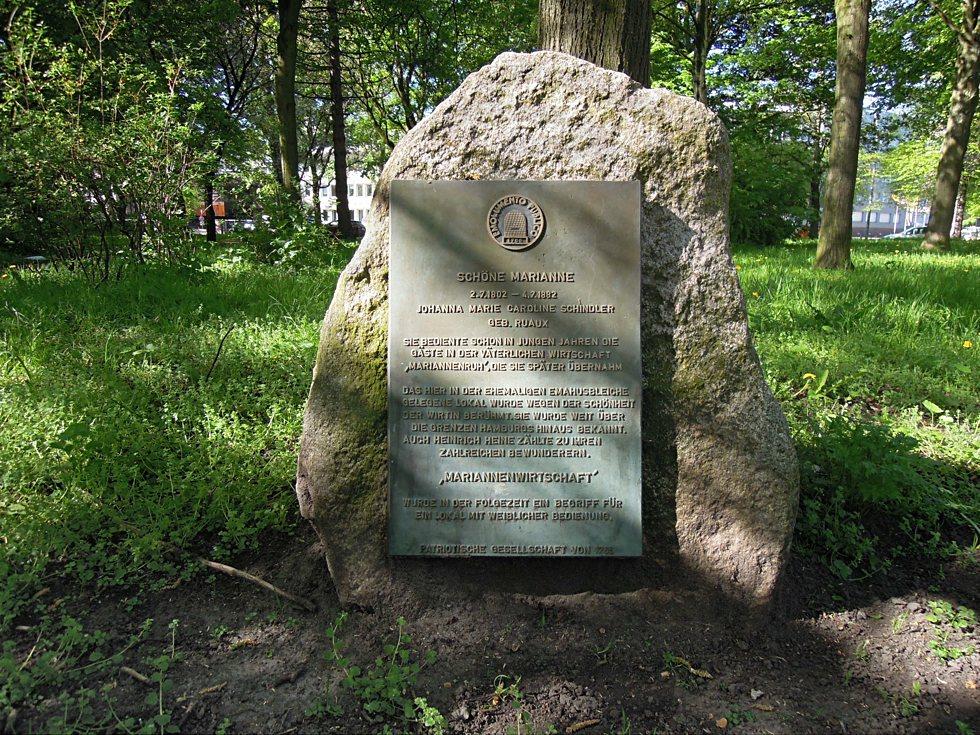 Gedenkstein für Johanna Marie Caroline Schindler, Geborene Ruaux